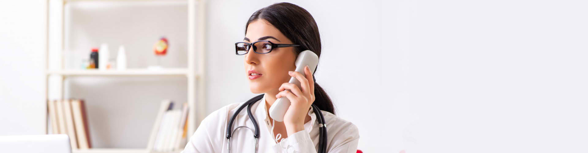doctor in a phone