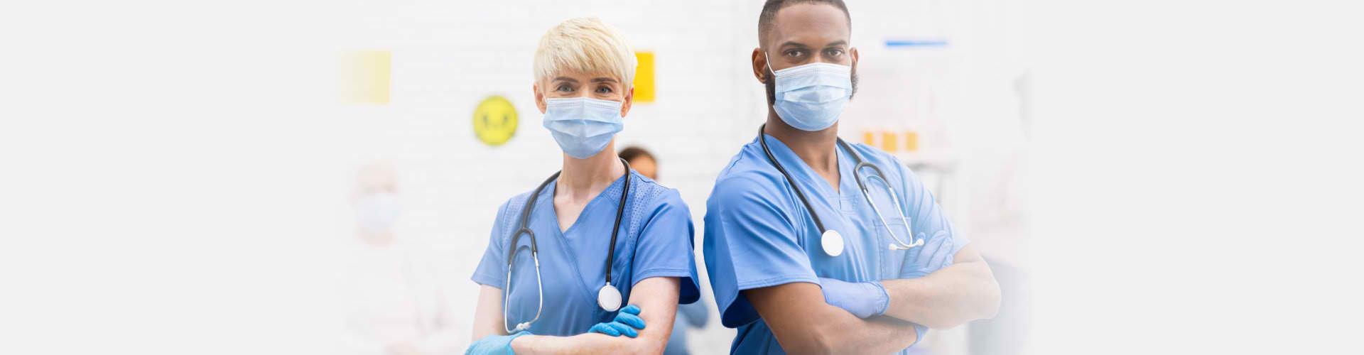 two medical staffs